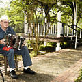 Cajun Man With Accordion by Robert Ponzoni