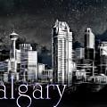 Calgary Skyline Art by Brad Allen Fine Art