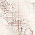 Calgary Street Map Colorful Copper Modern Minimalist by Jurq Studio