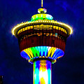 Calgary Tower At Night by Edita De Lima