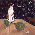 Calico Tea Meditation by Laura Iverson