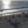 California Carlsbad Beach Almost Sunset by JG Thompson