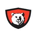 California Grizzly Bear Head Smiling Crest Retro by Aloysius Patrimonio