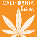 California Grown Cannabis Orange- Art By Linda Woods by Linda Woods