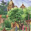 California Mission Carmel Basilica by Irina Sztukowski