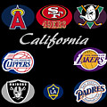 California Professional Sport Teams Collage  by Movie Poster Prints