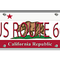 California Route 66 License Plate by Anne Kitzman
