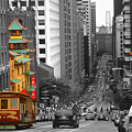 California Street San Francisco by Peter Potter
