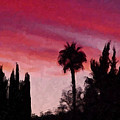 California Sunset Painting 1 by Teresa Mucha