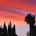California Sunset Painting 3 by Teresa Mucha