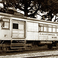 California Western  M 100 Gas Railcar  Skunk Train  Circa 1930 by California Views Archives Mr Pat Hathaway Archives