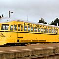 California Western Railroad Motorcar M300 Fiort Bragg California by Brian Lockett