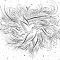 Calligraphic Love Birds by Dwayne Hamilton