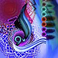 Calligraphy 109 4 by Mawra Tahreem