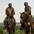 Calm As A Summers Morning Hyrum And Joseph Smith Bronze Sculpture by Kim Corpany