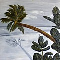 Calm Beach Palm by Leslye Miller