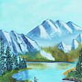 Calm Mountain Stream by Betty McGregor