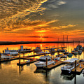 Calm Waters Bull River Marina Tybee Island Savannah Georgia Art by Reid Callaway
