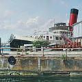Calshot Tug Boat At Southampton Docks by Martin Davey
