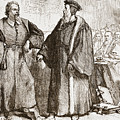 Calvin And Servetus Before The Council Of Geneva by English School