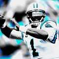 Cam Newton Letting It Fly by Brian Reaves