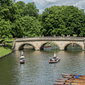 Cambridge Punting On The River by Tim Clark