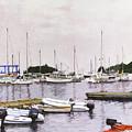 Camden Maine Marina by Thomas Michael Meddaugh