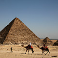 Camel Ride At The Pyramids by Donna Corless