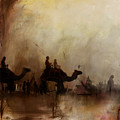 Camels And Desert 18 by Mahnoor Shah
