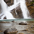 Cameron Falls In Waterton Lakes National Park by Bryan Mullennix