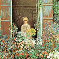 Camille At The Window by Claude Monet