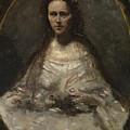 Camille Corot   Sketch Of A Woman In Bridal Dress by PixBreak Art