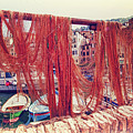 Camogli, Fishing Nets In The Sun. by Adriano Bussi