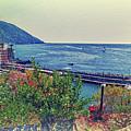 Camogli, Panorama Of The Sea. by Adriano Bussi