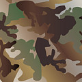 Camouflage Pattern Background  Clothing Print, Repeatable Camo G by Svetlana Corghencea