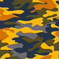 Camouflage Pattern Background Seamless Clothing Print, Repeatabl by Svetlana Corghencea