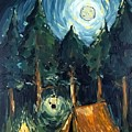 Camp At Night by Maria Langgle