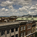 Campbell Avenue Rooftops Roanoke Virginia by Teresa Mucha