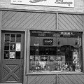 Campbell's Smoke Shop Black And White  by John McGraw