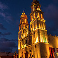 Campeche Cathedral At Evening by Pablo Aura