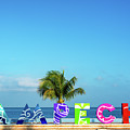 Campeche Sign And Sea View by Jess Kraft