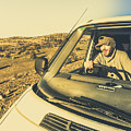 Camper Man On Adventure by Jorgo Photography - Wall Art Gallery