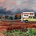 Camper On Pacific Coast Highway by Donald Maier
