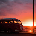 Campervan At Sunset by Keith Morris