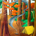 Camping - Through The Forest Series by Richard Hoedl
