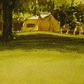 Camping In My Yellow Tent by Walt Maes