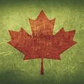 Canada Distressed Flag Dehner by David Dehner