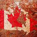 Canada Flag Map by Michael Tompsett