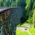 Canada National Historic Wooden Trestle- Kinsol Trestle Near Shawnigan Lake, Bc Canada. by Andrew Kim