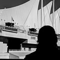 Canada Place Wings Silhouette by Dorothy Hilde